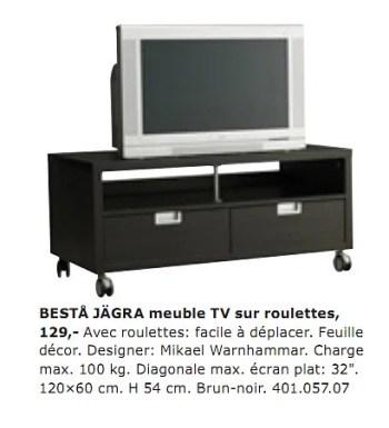 ikea meuble tv roulettes