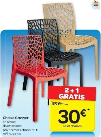 chaise gruvyer
