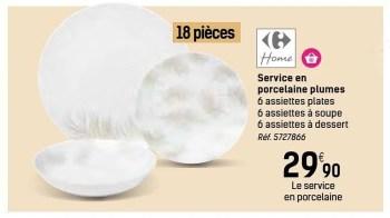 service en porcelaine plumes