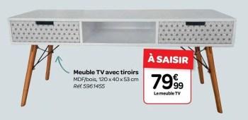 meuble tv avec tiroirs