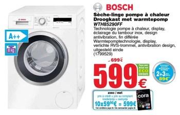 Promotion Cora Bosch Seche Linge Pompe A Chaleur Droogkast Met Warmtepomp Wth85290ff Bosch Appareils Electriques Valide Jusqua 4 Promobutler