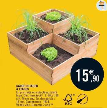 https www promobutler be fr e leclerc promotions promotion huismerk eleclerc chez e leclerc carre potager a etages serre de jardin conservatoire id 3755839