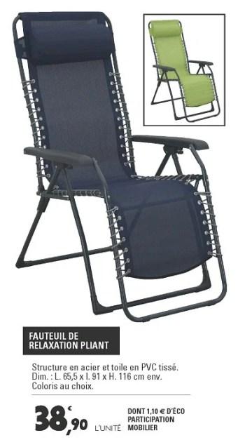 fauteuil de relaxation pliant