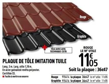 Promotion Brico Depot Plaque De Tole Imitation Tuile Produit Maison Brico Depot Construction Renovation Valide Jusqua 4 Promobutler
