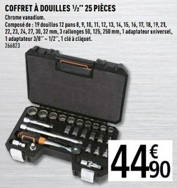 Promotion Brico Depot Coffret A Douilles 25 Pieces Magnusson Bricolage Valide Jusqua 4 Promobutler