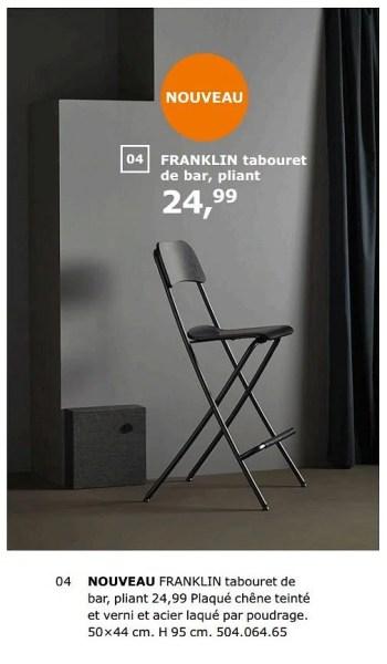 Promotion Ikea Franklin Tabouret De Bar Pliant Produit Maison Ikea Meubles Valide Jusqua 4 Promobutler