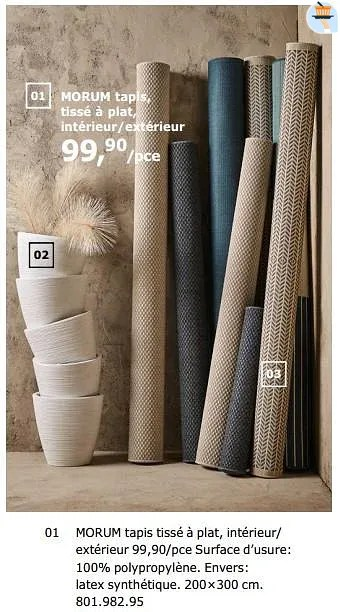morum tapis tisse a plat interieur exterieur