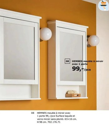 hemnes meuble a miroir avec 1 porte