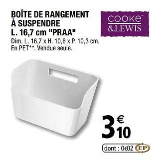 Promotion Brico Depot Boite De Rangement A Suspendre Praa Cooke Lewis Menage Valide Jusqua 4 Promobutler