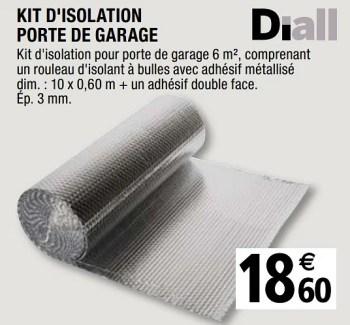Promotion Brico Depot Kit D Isolation Porte De Garage Diall Construction Renovation Valide Jusqua 4 Promobutler