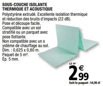 Promotion Brico Depot Sous Couche Isolante Thermique Et Acoustique Diall Construction Renovation Valide Jusqua 4 Promobutler