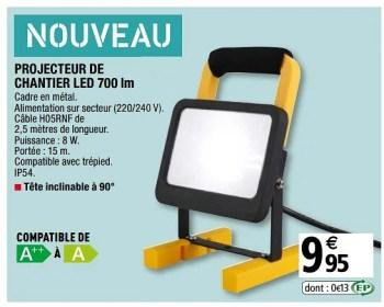 Promotion Brico Depot Projecteur De Chantier Led 700 Lm Produit Maison Brico Depot Eclairage Valide Jusqua 4 Promobutler