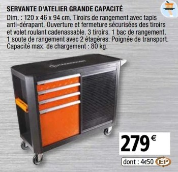 Promotion Brico Depot Servante D Atelier Grande Capacite Magnusson Bricolage Valide Jusqua 4 Promobutler