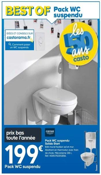 Promotion Castorama Pack Wc Suspendu Solido Start Grohe Construction Renovation Valide Jusqua 4 Promobutler