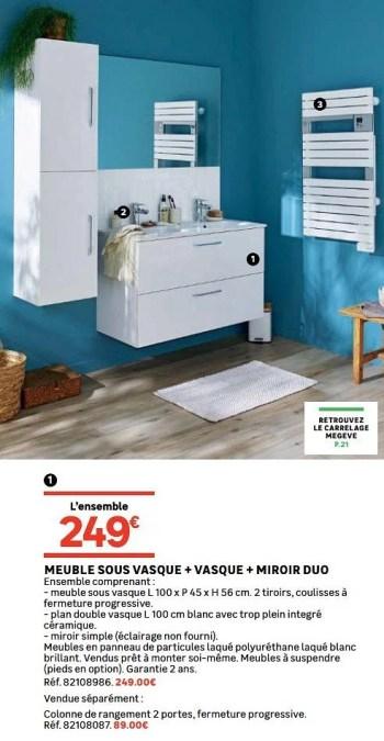 Leroy Merlin Promotie Meuble Sous Vasque Vasque Miroir Duo Huismerk Leroy Merlin Keuken Badkamer Geldig Tot 22 07 19 Promobutler