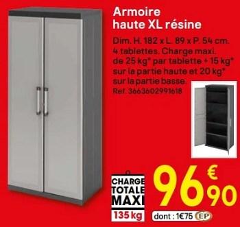 armoire haute xl resine