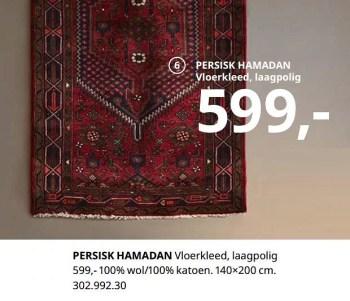 persisk hamadan vloerkleed laagpolig