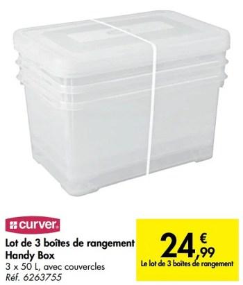 boite de rangement plastique carrefour