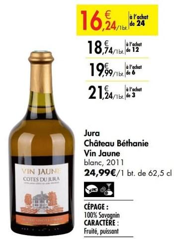 https www promobutler be fr carrefour promotions promotion vins blancs chez carrefour jura chateau bethanie vin jaune blanc france autres vin blanc france id 6062757