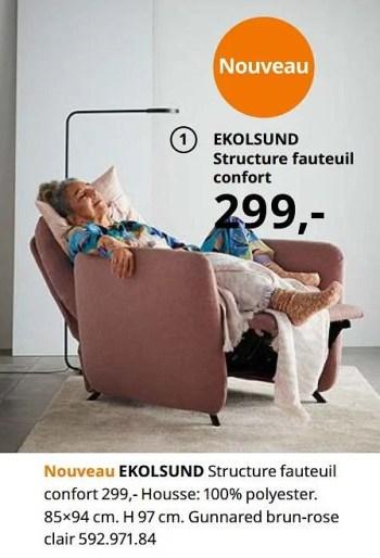 ekolsund structure fauteuil confort