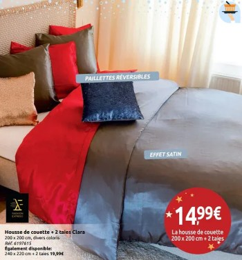 Promotion Carrefour Housse De Couette 2 Taies Clara Fashion Express Menage Valide Jusqua 4 Promobutler