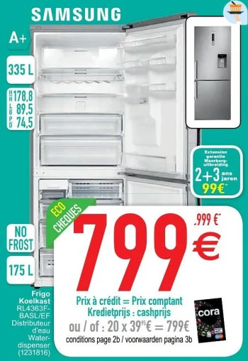 Promotion Cora Samsung Frigo Koelkast Rl4363fbasl Ef Samsung Appareils Electriques Valide Jusqua 4 Promobutler