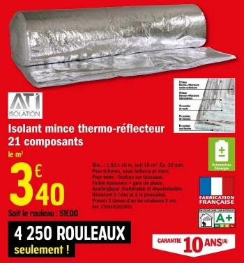 isolant mince thermo reflecteur 21 composants