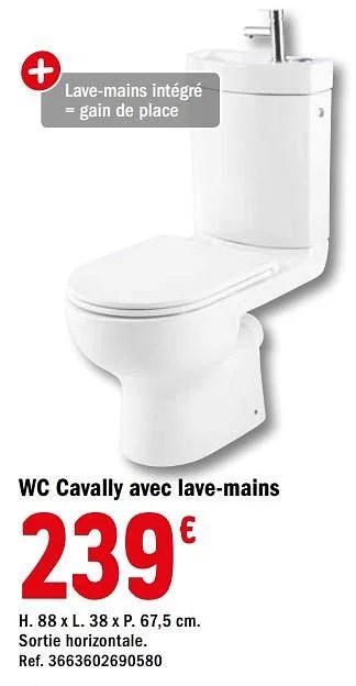 wc cavally avec lave mains