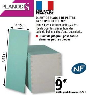 Promotion Brico Depot Quart De Plaque De Platre Ba 13 Hydrofuge Nf Planodis Construction Renovation Valide Jusqua 4 Promobutler