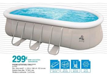 piscine autostable ovale
