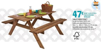 table forestiere