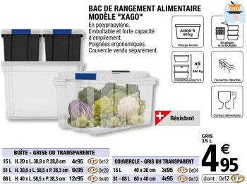 Promotion Brico Depot Bac De Rangement Alimentaire Modele Xago Form Menage Valide Jusqua 4 Promobutler