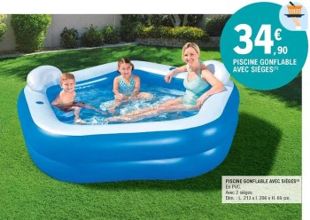 piscine gonflable avec sieges