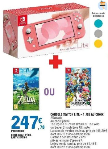 Nintendo Switch Lite Leclerc : nintendo, switch, leclerc, Promotion, E.Leclerc:, Nintendo, Console, Switch, Choix, (Multimedia), Valide, Jusquà, Promobutler