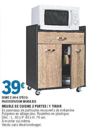 meuble de cuisine 2 portes 1 tiroir