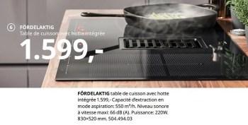 fordelaktig table de cuisson avec hotte integree