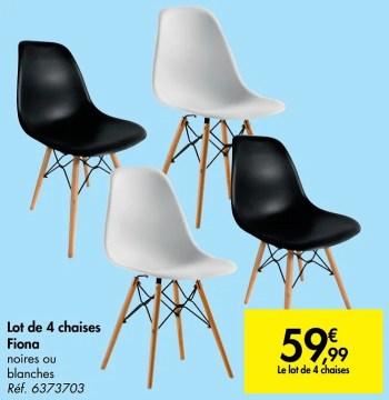 lot de 4 chaises fiona