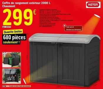 https www promobutler be fr brico depot promotions promotion keter chez brico depot coffre de rangement exterieur 2000 l chaumont rangement de jardin pavillon id 8118629