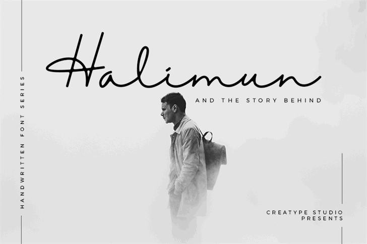 Imagem para Halimun font