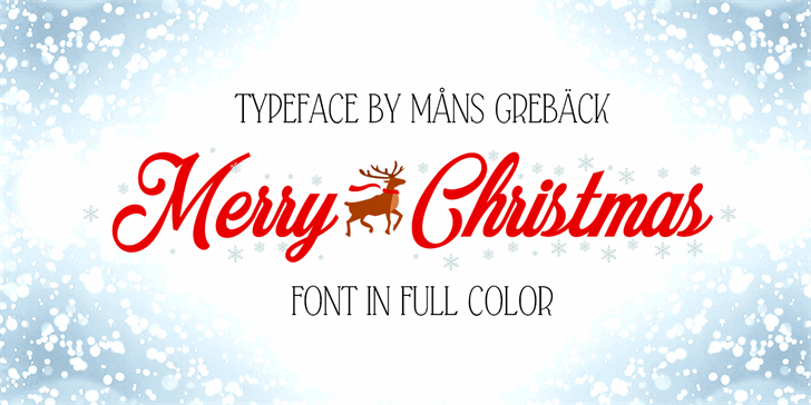 Merry Christmas Color Font design graphic