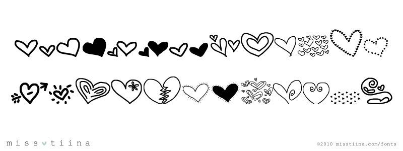 broken heart fonts download
