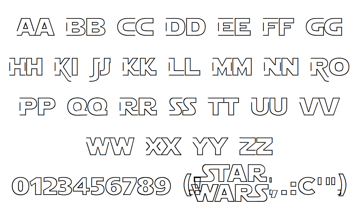 Star jedi font fontspace, old english letter b