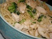chicken broccoli and angel hair