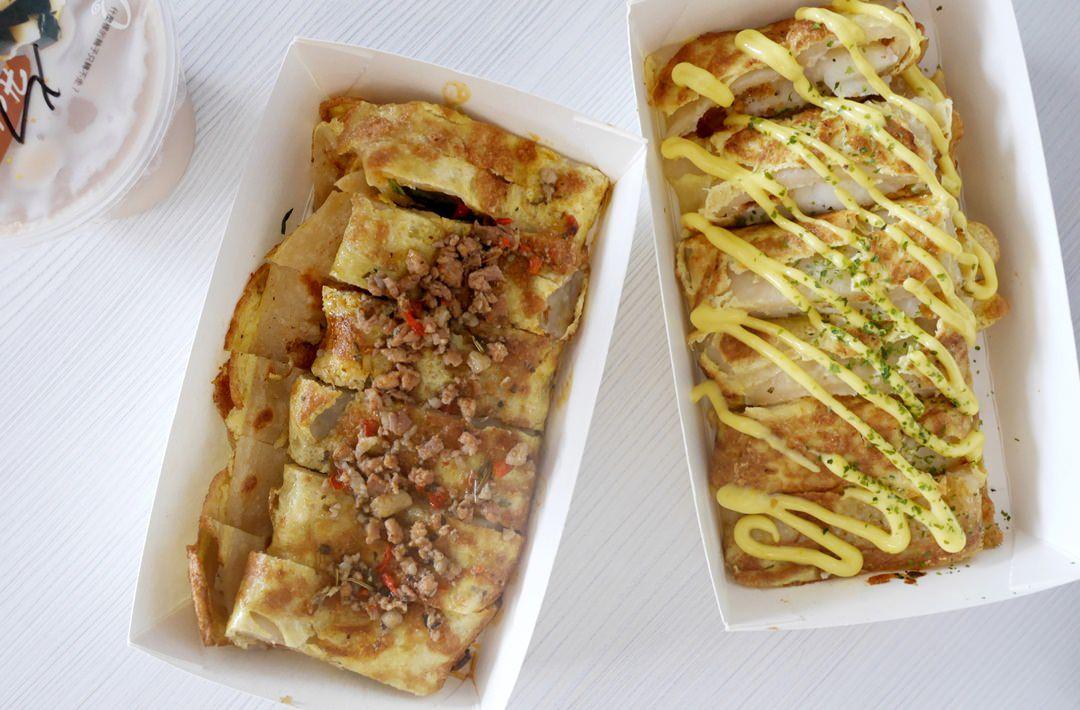 臺南 成大早餐 少爺手作蛋餅專賣 你吃過泰式打拋豬蛋餅嗎? - 波妮說食話