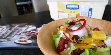 【台南市-仁德區美食】2017 Hellmann's美味沙拉之旅,在『覓秘複合式咖啡廳』於炎夏之際與『鮮果優格義式冰沙沙拉』,共譜驚豔消暑之旅~|台南美食|仁德美食|巷弄美食|