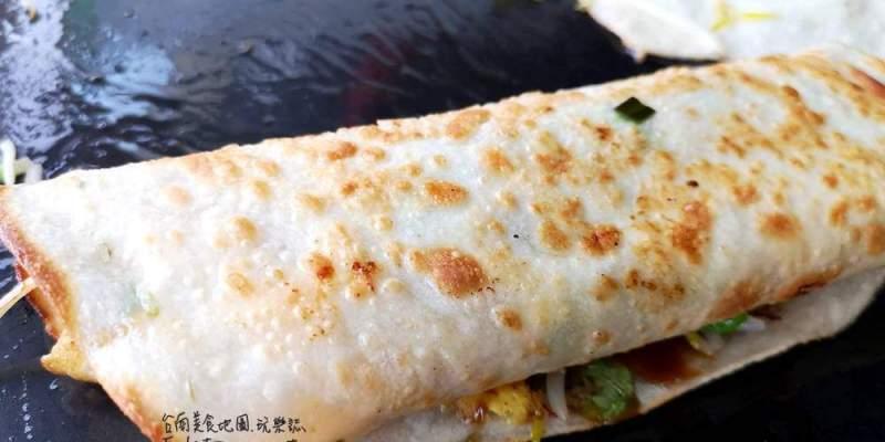 台南安南區美食│只賣一樣一賣就是數十年,烙餅加四種蔬菜只賣25元,有夠便宜