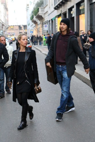Zlatan Ibrahimovic Out Shopping In Milan (USA AND OZ ONLY)