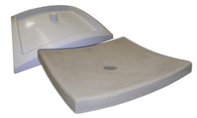 shallow concrete vessel sink mold from