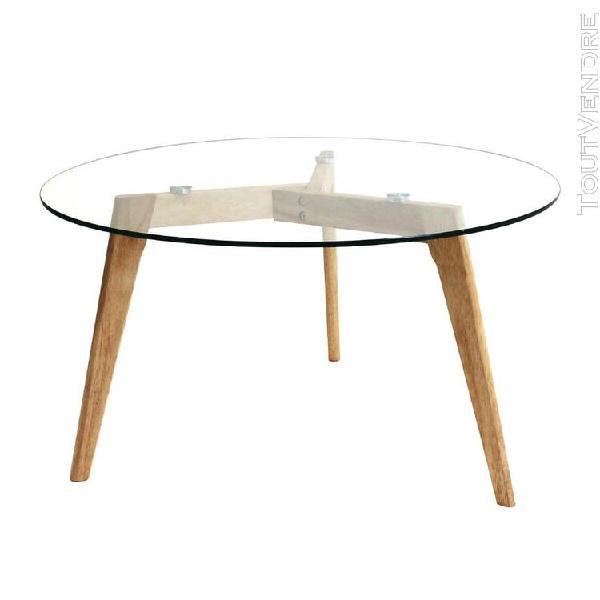 table ronde plateau verre offres