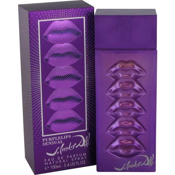 purple lips sensual perfume